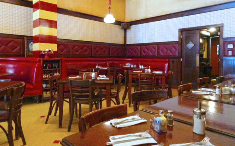 comer en los angeles Nickel Diner interior