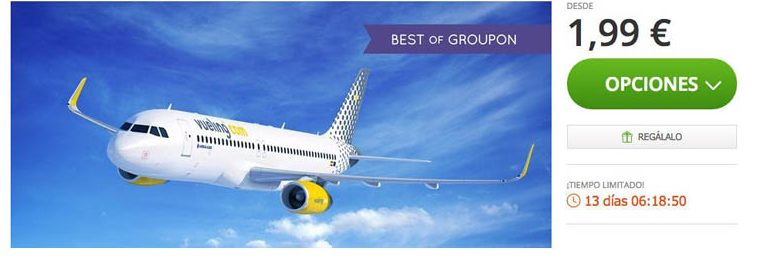 cupon vueling en groupon 2016